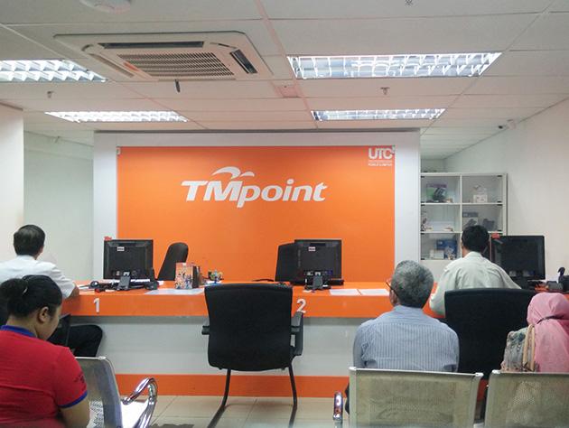 クアラルンプール市内のTMpoint。Telekom Malaysiaは販売店をTMpointとしている。