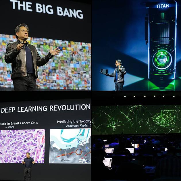 今年のGTCの基調講演はディープラーニング(深層学習)に関する話題が多く、NVIDIAのジェンスン・ファンCEOは基調講演で、そうしたニーズに合わせて来年製品化される次世代アーキテクチャのPascalなどが紹介された。