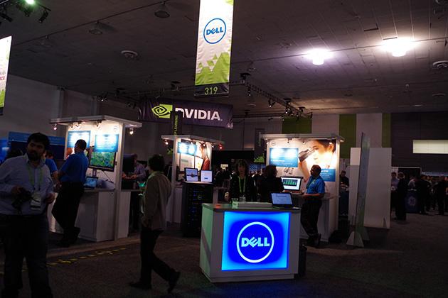 展示会場ではNVIDIA以外にDellやCiscoなどの企業が出展し、技術関連のセミナーも開催されていた。