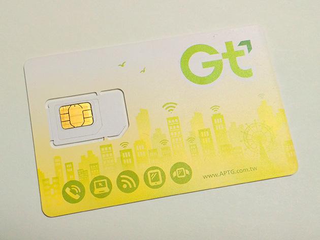 亞太電信のLTE対応プリペイドSIMカード。台湾桃園国際空港で購入した。