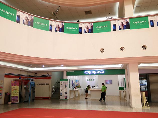 EXPO Danga City MallにはOPPOの販売店や広告が見られた。