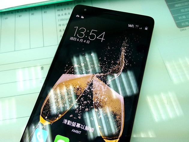 國碁電子のVoLTEに対応したスマートフォンであるInFocus M810 VoLTE版本に國碁電子の音声通話対応SIMカードを挿入すると通知バーにVoLTEと表示される。