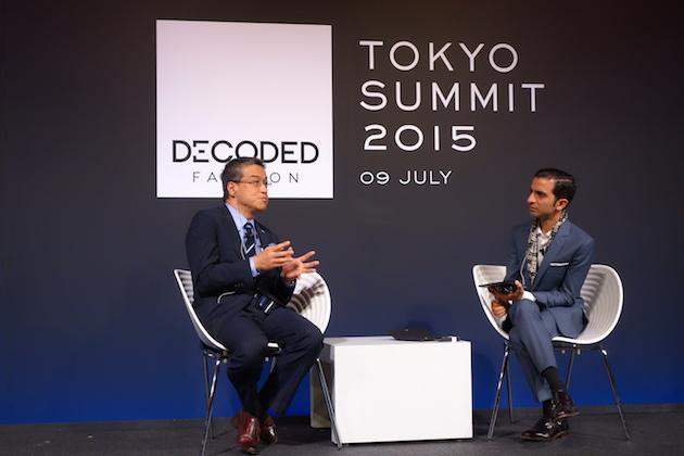 三越伊勢丹グロープ CEOの大西洋氏(左)と、Business of Fashion創設者のイムラン・アーメド氏(右)
