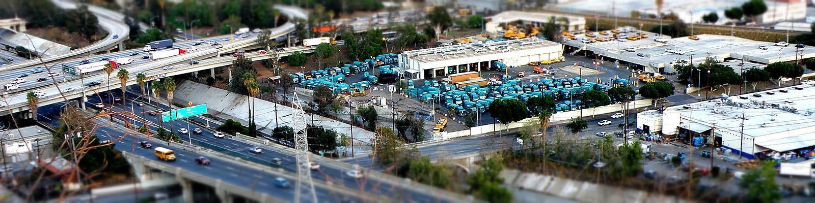 カリフォルニア ゴミ収集車