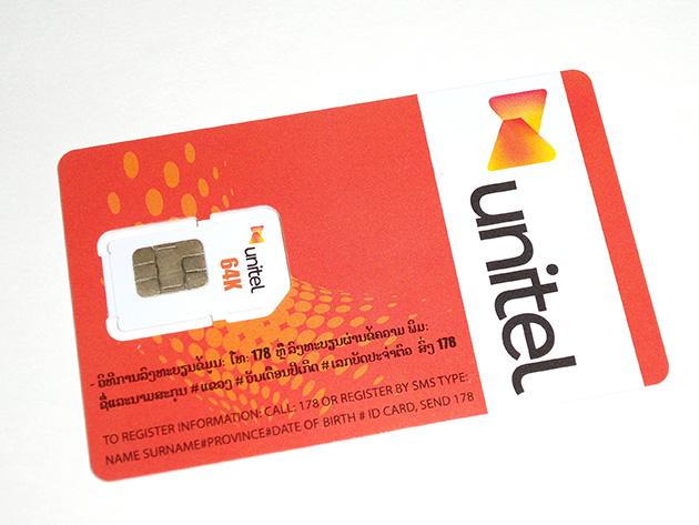 Star TelecomのSIMカード。