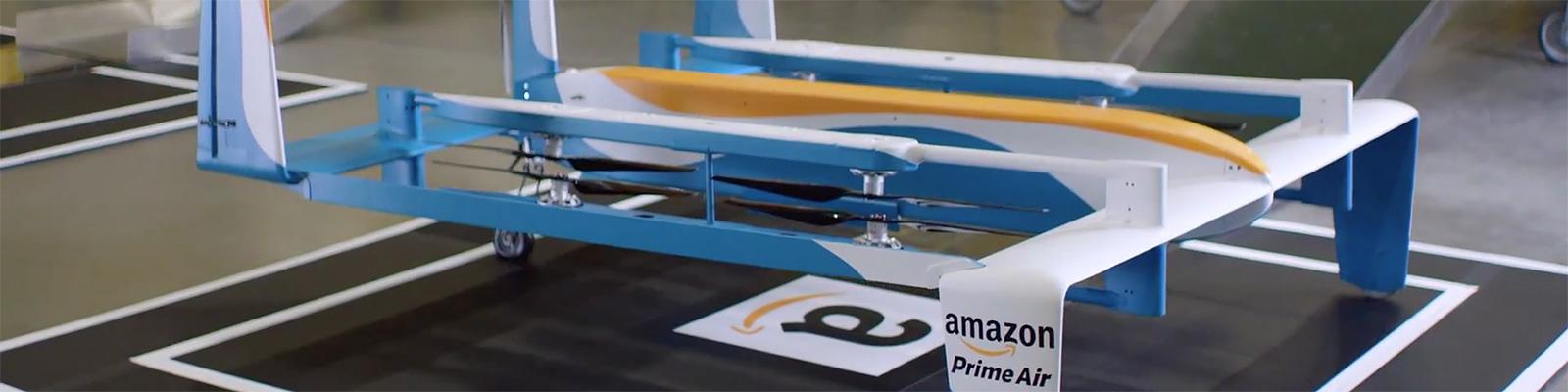アマゾン、「Prime Air」用ドローンの新型プロトタイプを披露