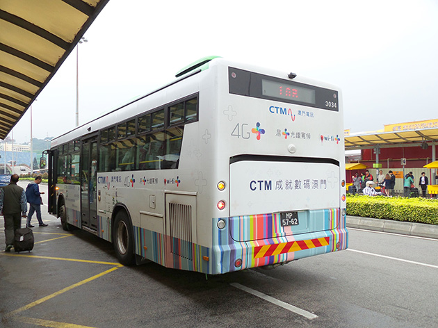 CTMは4G+を大々的に展開しており、4G+のラッピングを施したバスも見かけた。