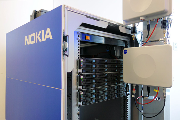 2015年10月に開催したノキアのプライベートイベントでは「AirFrame」の実機を使ったNokia Radio Cloudのデモを実施した
