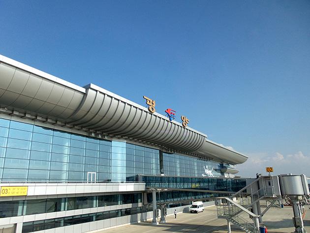 新たに運用を開始した平壌国際空港の第2ターミナル。更に拡大する計画である。