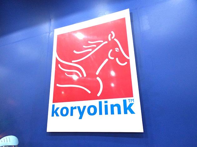 千里馬をモチーフとしたkoryolinkのロゴ。
