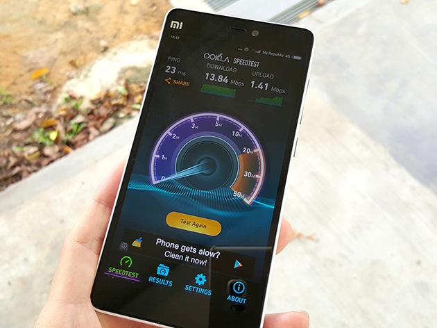 MyRepublicのLTEネットワークに接続して通信速度を測定した。