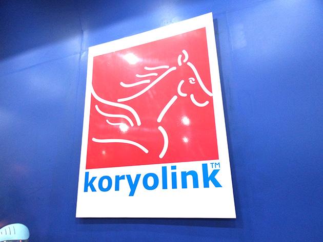 千里馬をモチーフとするkoryolinkのロゴ。