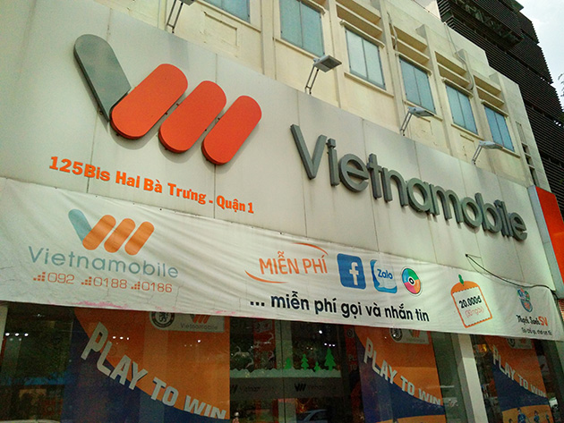 GSM陣営への転向に成功したVietnamobileの販売店。