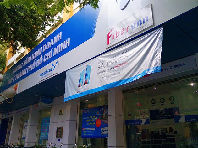 LTEサービスのトライアルを開始したVinaPhoneの販売店。