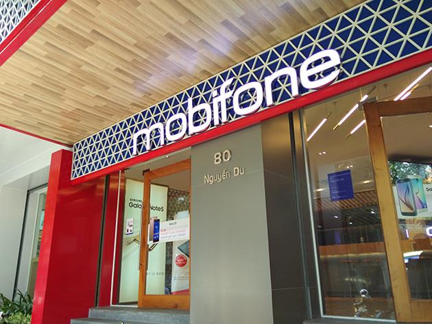情報通信省が所有するが、民営化の計画があるMobiFoneの販売店。
