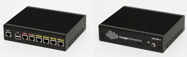拠点に設置するネットワーク機器(CPE)の「7850 NSG-E」。6つの10/100/1000BASE-Tポートを備える。ネットワークに接続後、設定した構成情報を読み込んで稼働する(写真:中根 佑子)