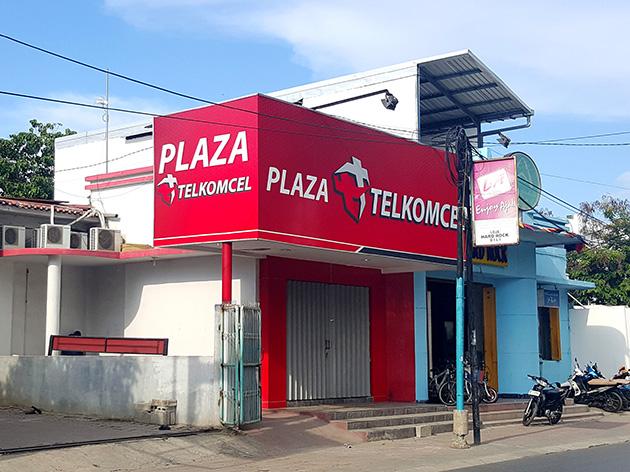 東ティモールの首都・ディリにあるPlaza TELKOMCEL。