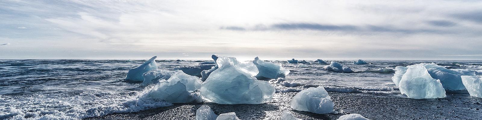 自然 氷 海