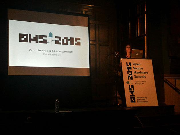 2015年のオープンソースハードウェアサミット(フィラデルフィア)