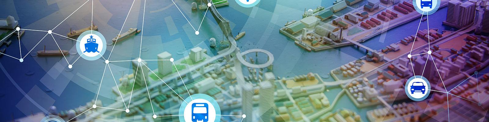 地図 IoT