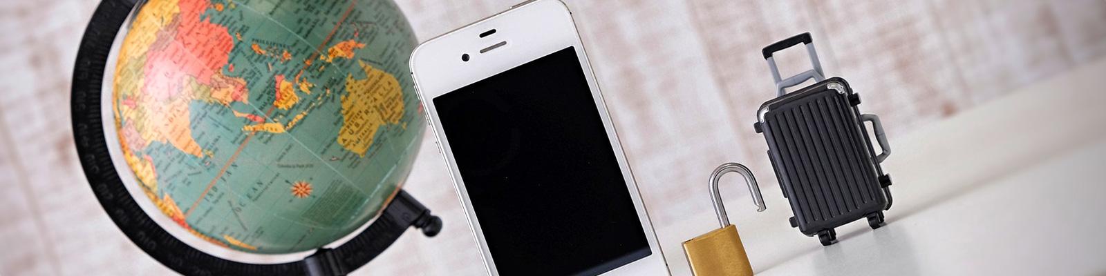 地球儀 携帯電話 イメージ