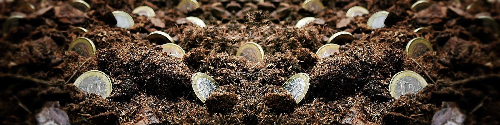 お金 採掘 イメージ