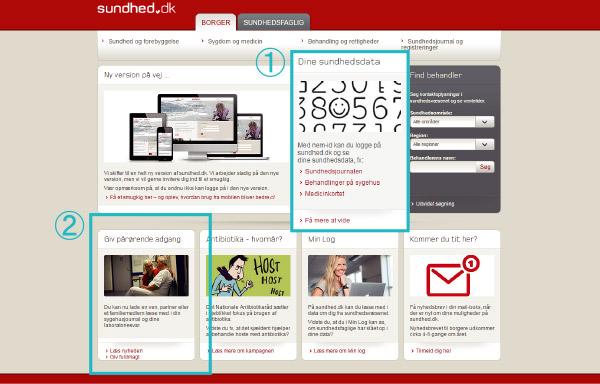医療データの市民ポータルサイト『Sundhed.dk』