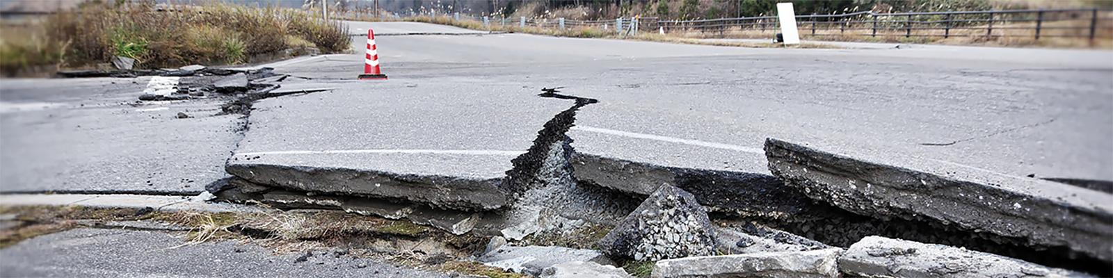 災害 道路 イメージ
