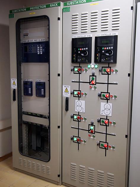 図3 発電機を制御するシステムの制御盤
