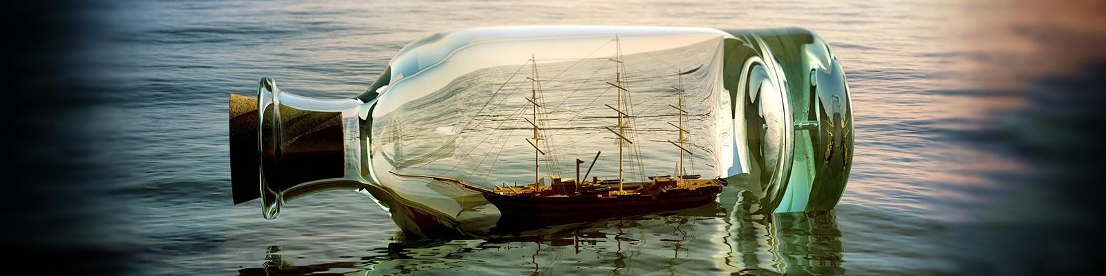 ボトルシップ 海 イメージ