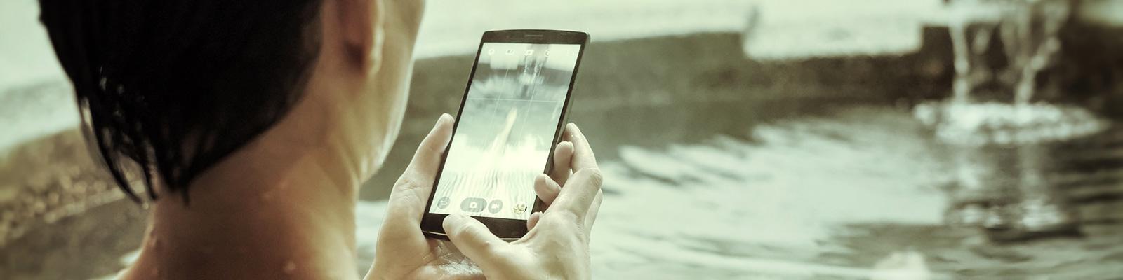 携帯 カメラ 浴場 イメージ