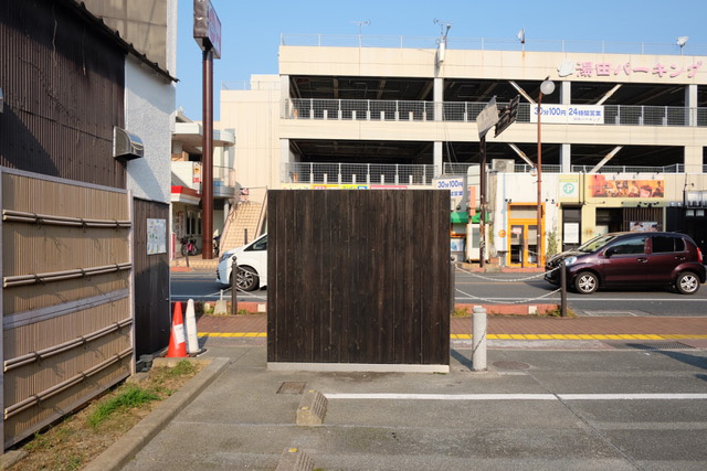 湯田温泉街にある壁の一例。壁に寄りかかって待ち合わせをしたり。(撮影:髙橋茉莉)
