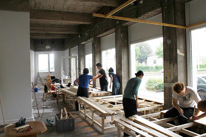 改修中の「日本の家」