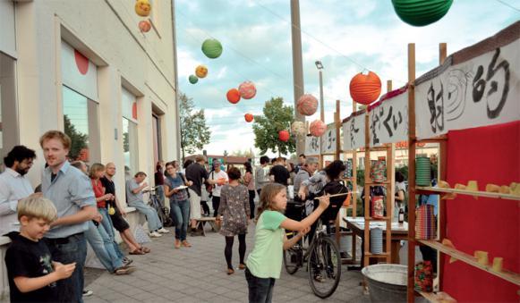 2012年に行われた地域の芸術祭、日本の縁日を再現した