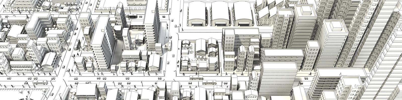 街 3D イメージ