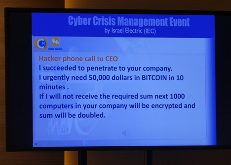 「Cyber Crisis Management Round Table」