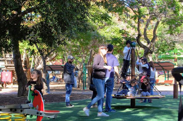 テルアビブ近郊のラアナナにある大きな公園。すごく大きい公園だが、子供が多いので週末はとても混んでいる。