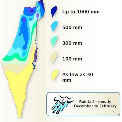 イスラエルの南半分は砂漠