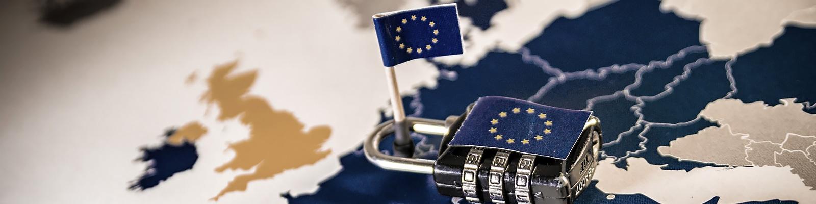 EU 国旗 セキュリティ イメージ