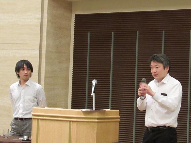 ホライズンワークス 代表取締役 兼 ブルーウォール 主任研究員の林真人氏(写真左)と、つくるの三宅創太氏
