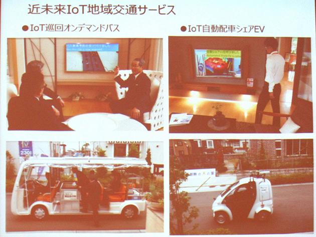 近未来IoT地域交通サービス実例のスライド画像
