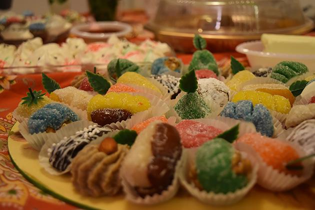 砂糖漬けのフルーツにシュガーコーティングしてあるものもある。