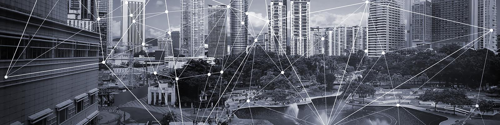 都会 通信 ネットワーク イメージ