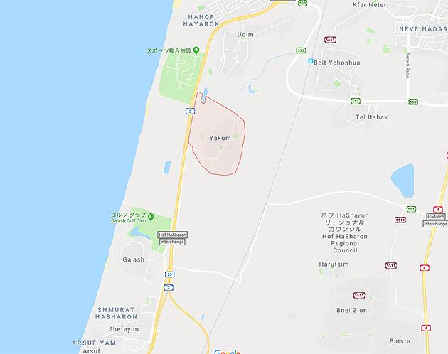 Yaqumの場所(Googleマップ)