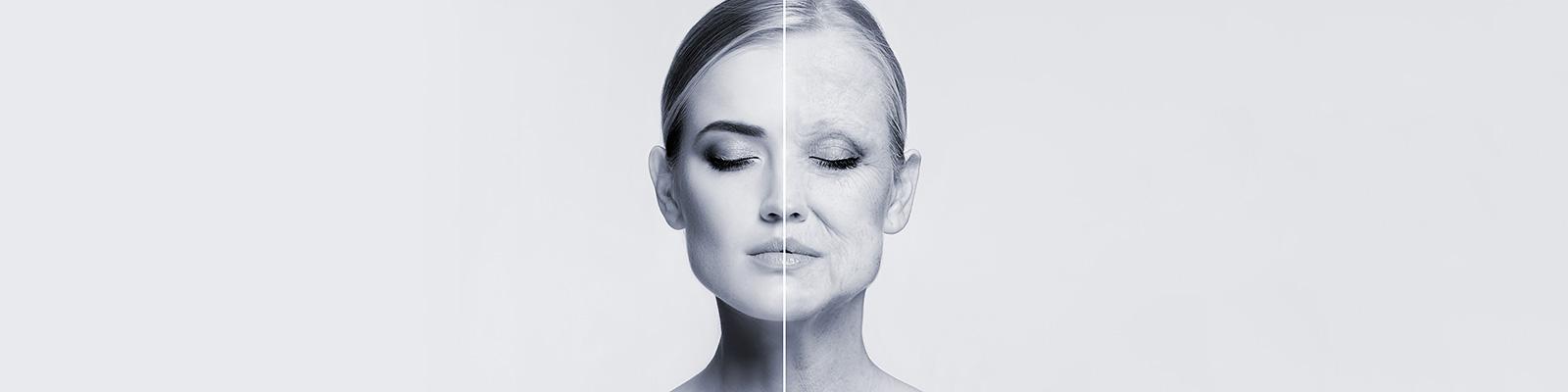 顔 老化 時間 イメージ