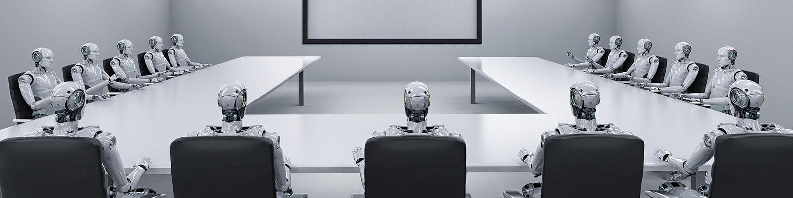 AI ロボット 会議 イメージ