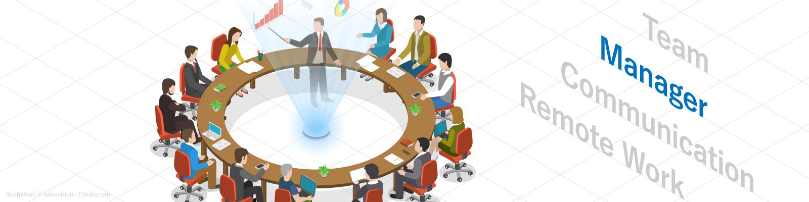 チーム マネージャー コミュニケーション リモートワーク イメージ