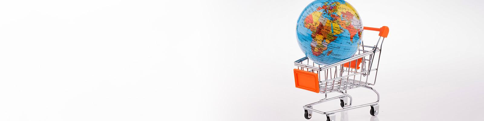 世界 地図 カード ショッピング イメージ