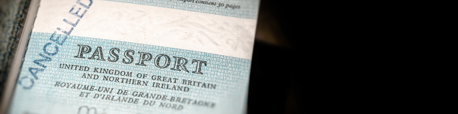 英国 パスポート 個人情報 イメージ