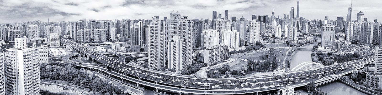 中国 上海 ビルディング 密集 イメージ